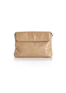 HALSTON HERITAGE Tina Double-Flap Convertible Leather Clutch