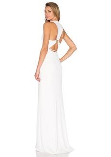 Halston Heritage Trapezoid Back Dress