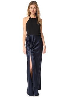 Halston Heritage Twist Drape Gown