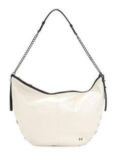 Halston Heritage Two-Tone Leather Hobo Bag