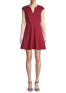 Halston Heritage V-Neck A-Line Dress
