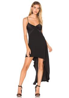 Halston Heritage V Neck Asymmetric Dress