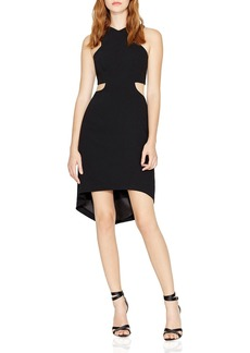 HALSTON HERITAGE V-Neck Cutout Dress
