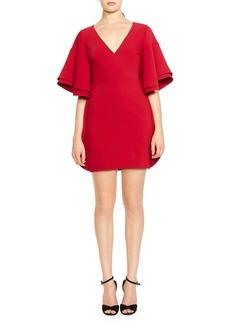 Halston Heritage V-Neck Mini Dress