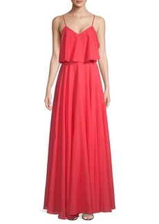 V-Neck Popover Gown