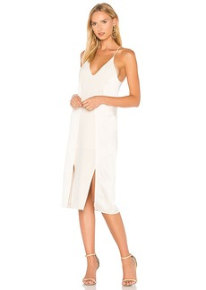 Halston Heritage V Neck Slip Dress With Back Cut Outs in Cream. - size 0 (also in 2,4)
