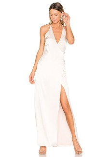 Halston Heritage V Neck Slip Gown in Rose. - size 2 (also in 4,6)