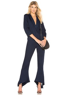 Halston Heritage V Neck Tapered Jumpsuit