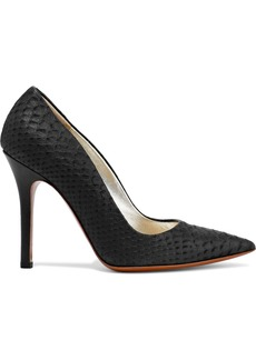 Halston Heritage Woman Amy Python-effect Leather Pumps Black
