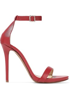 Halston Heritage Woman Angie Leather Sandals Crimson