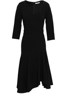 Halston Woman Asymmetric Stretch-crepe Dress Black