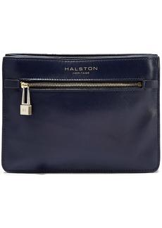 Halston Heritage Woman Candice Leather Shoulder Bag Indigo