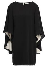 Halston Heritage Woman Cape-effect Cady Mini Dress Black