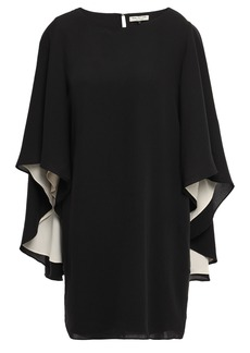 Halston Heritage Woman Cape-effect Cady Mini Dress Black