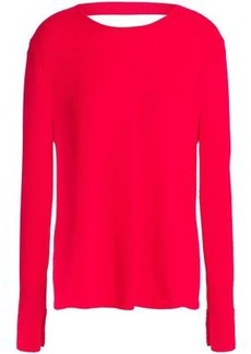 Halston Heritage Woman Cutout Cashmere Sweater Red