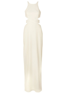Halston Heritage Woman Cutout Crepe Gown Off-white