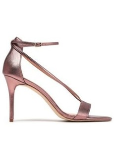 Halston Heritage Woman Evie Metallic Leather Sandals Rose Gold