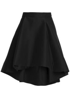 Halston Heritage Woman Flared Cotton And Silk-blend Skirt Black