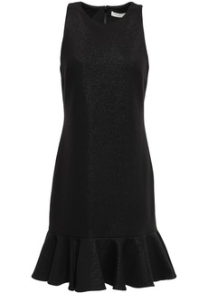 Halston Heritage Woman Fluted Ponte Mini Dress Black