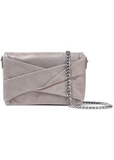 Halston Heritage Woman Grace Small Metallic Shoulder Bag Platinum