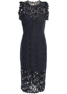 Halston Heritage Woman Guipure Lace Dress Navy