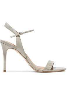 Halston Heritage Woman Whitney Leather Sandals Stone