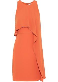 Halston Heritage Woman Layered Crepe Mini Dress Orange