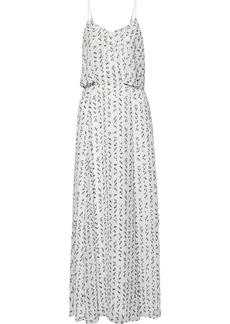 Halston Woman Layered Fil Coupé Chiffon Maxi Dress White