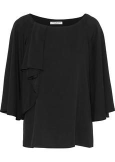 Halston Heritage Woman Layered Silk-blend Blouse Black