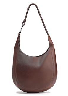 Halston Heritage Woman Brooke Leather Shoulder Bag Dark Brown