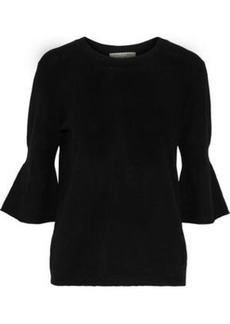 Halston Heritage Woman Merino Wool And Cashmere-blend Sweater Black