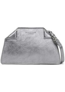 Halston Heritage Woman Metallic Textured-leather Shoulder Bag Silver
