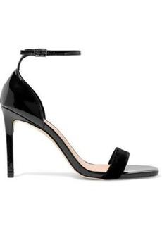 Halston Heritage Woman Myra Velvet And Patent-leather Sandals Black