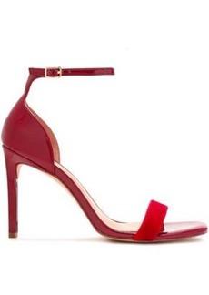 Halston Heritage Woman Myra Velvet And Patent-leather Sandals Crimson