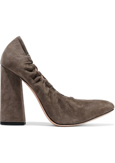 Halston Heritage Woman Natalie Suede Pumps Taupe