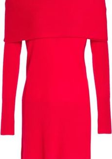 Halston Heritage Woman Off-the-shoulder Layered Cashmere Sweater Red