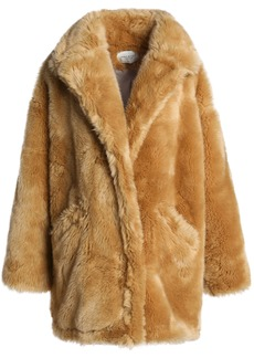 Halston Heritage Woman Oversized Faux Fur Jacket Camel