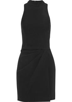 Halston Heritage Woman Pleated Crepe Mini Dress Black
