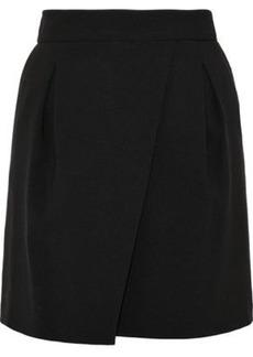 Halston Heritage Woman Pleated Crepe Mini Skirt Black
