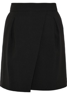 Halston Heritage Woman Pleated Crepe Mini Skirt Black