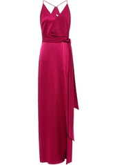 Halston Heritage Woman Satin-crepe Gown Magenta