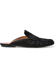 Halston Heritage Woman Calf-hair Slippers Black