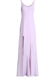Halston Heritage Woman Split-front Crepe Gown Lilac