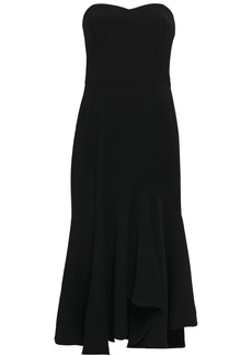 Halston Heritage Woman Strapless Crepe Midi Dress Black