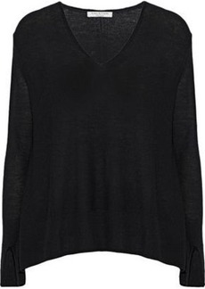 Halston Heritage Woman Stretch-knit Sweater Black