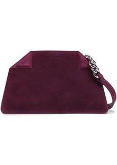 Halston Heritage Woman Suede Shoulder Bag Grape