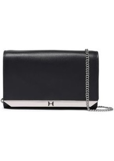 Halston Heritage Woman Textured-leather Clutch Black