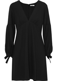 Halston Heritage Woman Tie-detailed Crepe Mini Dress Black