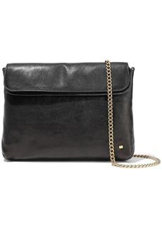 Halston Heritage Woman Tina Pebbled-leather Clutch Black