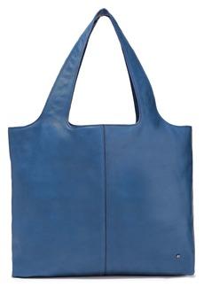 Halston Heritage Woman Tina Pebbled-leather Tote Blue
